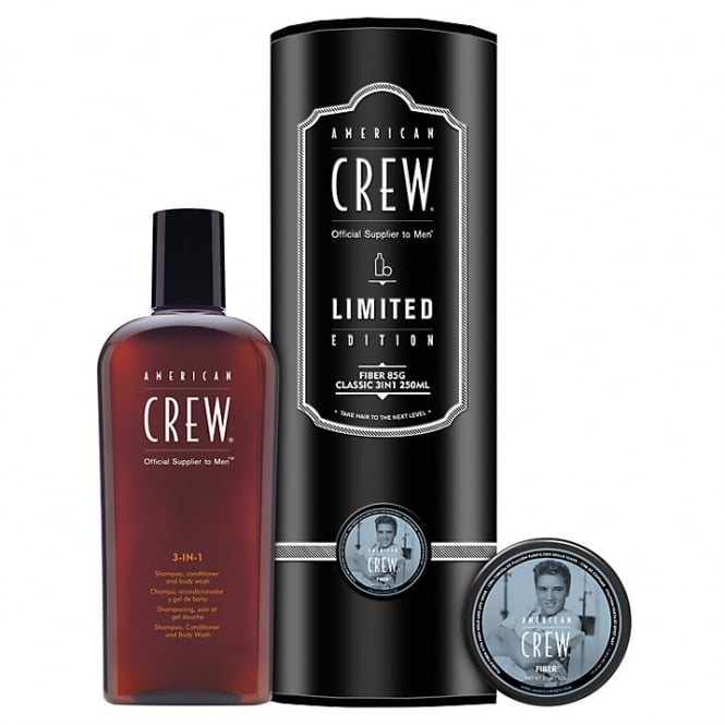 American Crew Fiber 85g & Classic 3 in 1 Duo Gift Pack