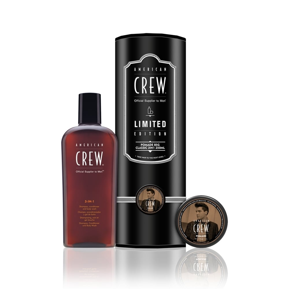 American crew pomade 85g classic 3 in 1 duo gift pack for American classic 3