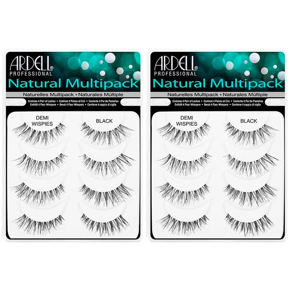 1466ec07169 Ardell Professional Multipack Naturals Strip Lashes Demi Wispies Black (4  Pairs x 2)
