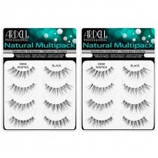 Multipack Naturals Strip Lashes Demi Wispies Black (4 Pairs x 2)