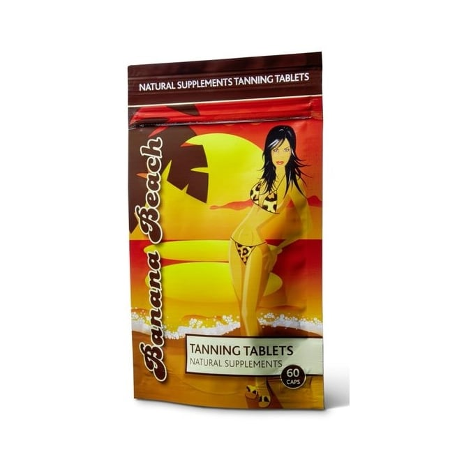Banana Beach Natural Supplements Tanning Tablets