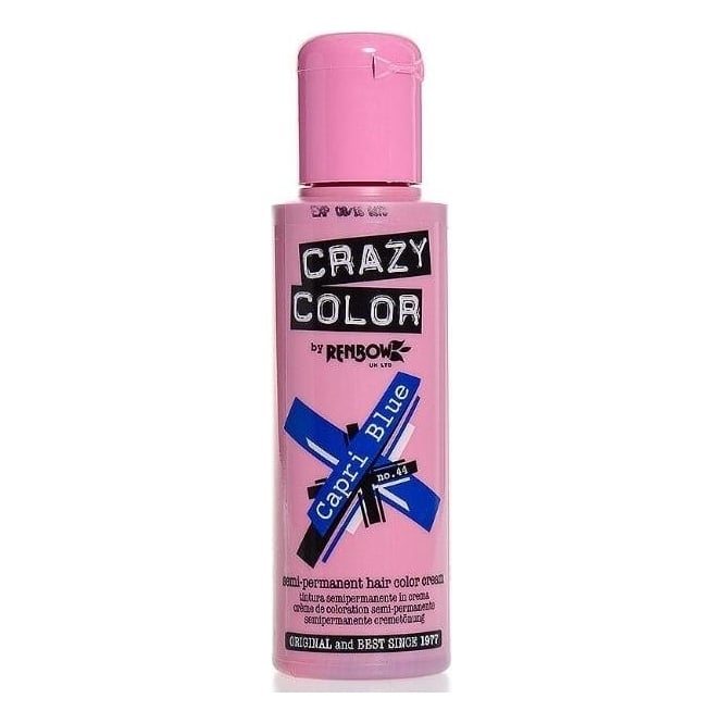 Crazy Colour Capri Blue Hair Dye 100ml