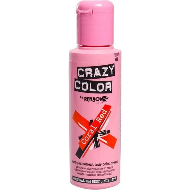 Crazy Colour Coral Red Hair Dye 100ml