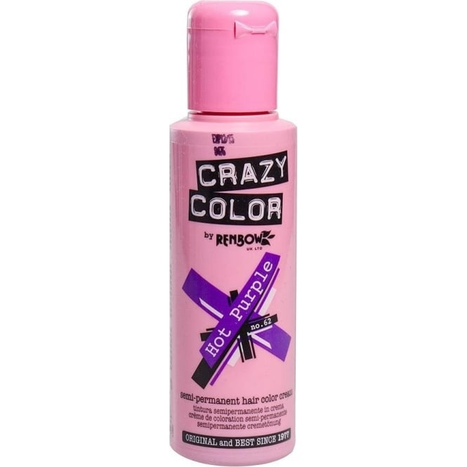 Crazy Colour Hot Purple Hair Dye 100ml