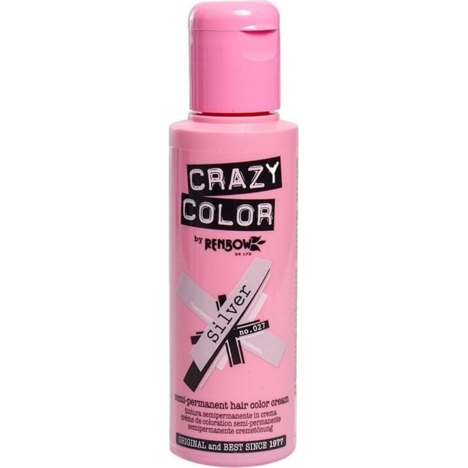 Crazy Colour Silver Hair Dye 100ml