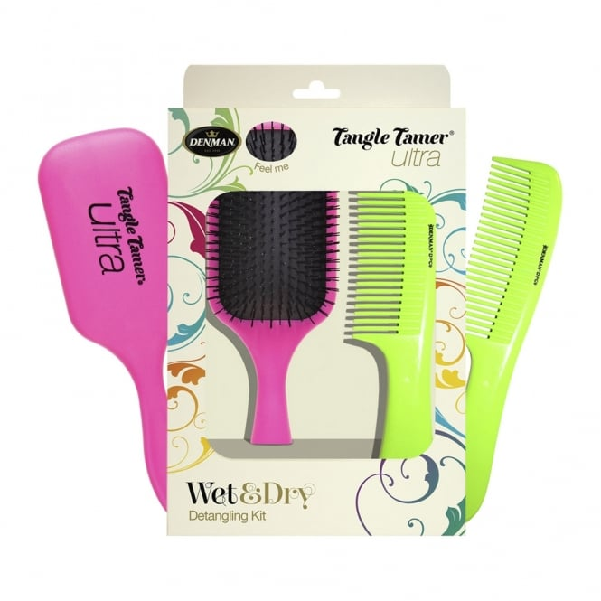 Denman Wet and Dry Detangling Kit