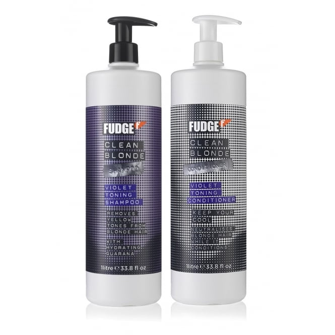Fudge Clean Blonde Violet Shampoo & Conditioner Duo 1000ml