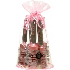 Oval Pink Brush Set