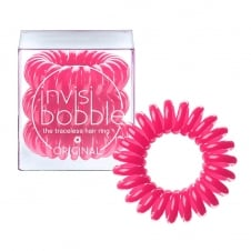 Original Traceless Hair Ring Candy Pink x 3