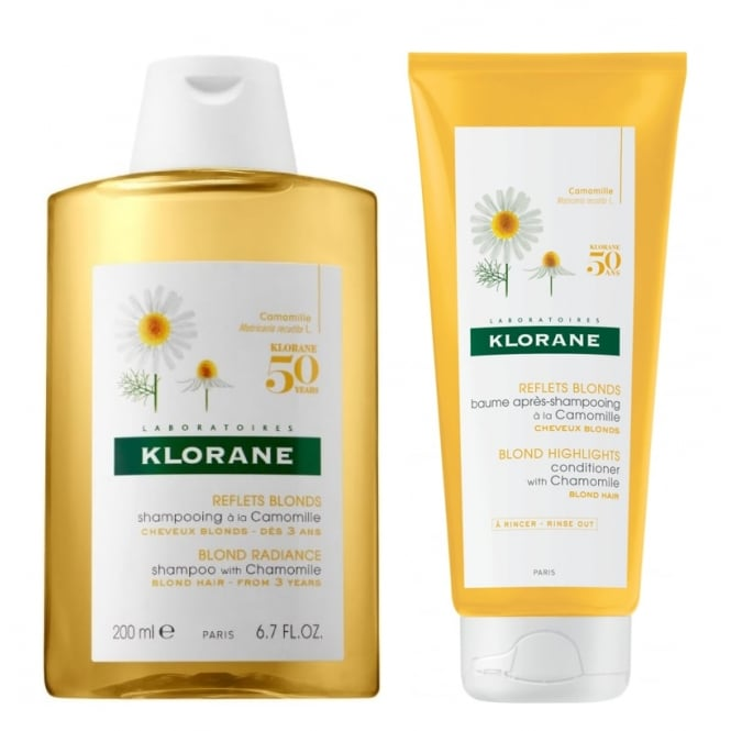 Klorane Camomile Shampoo & Conditioner For Blonde Hair 200ml Twin