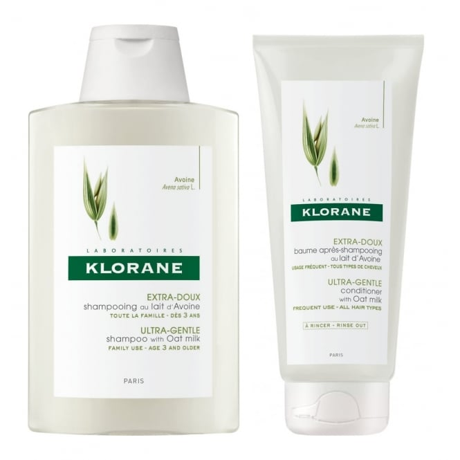 Klorane Oat Milk Ultra-Gentle Shampoo & Conditioner 200ml Twin