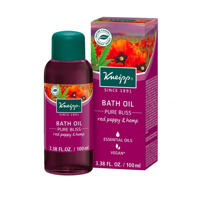 Kneipp Red Poppy & Hemp Pure Bliss Herbal Bath Oil 100ml