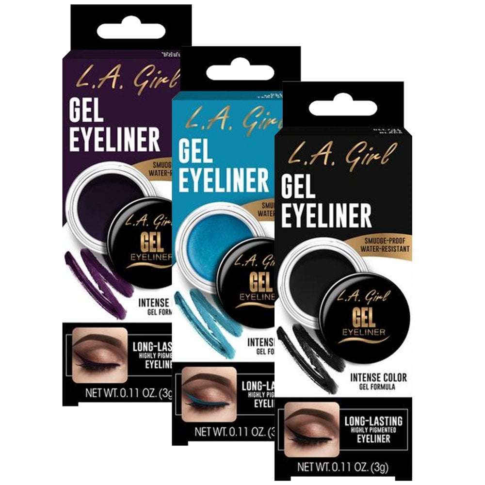Eyeliner Gel Black Cosmic Shimmer Gel732 by L.A. Colors #11