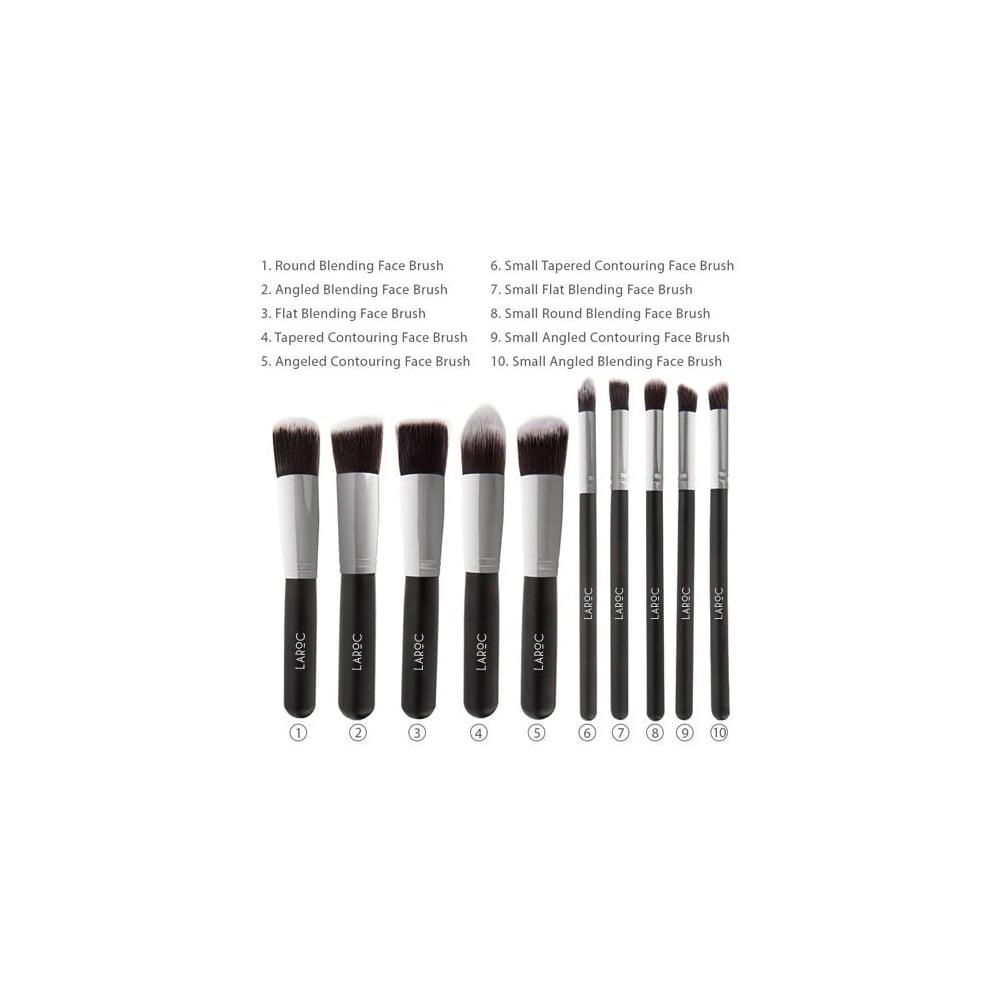 246bd7fe8a9b LaRoc Cosmetics 10 Piece Kabuki Makeup Brush Set