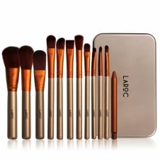 12 Piece Travel Makeup Brush Set