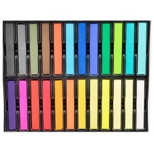 36 Colour Temporary Hair Chalk Set