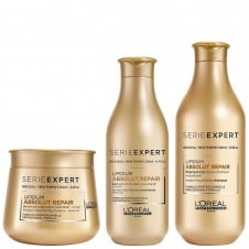 Serie Expert Absolut Repair Lipidium Shampoo 300ml, Conditioner 200ml & Masque 250ml Bundle
