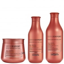 Serie Expert Inforcer Shampoo 300ml, Conditioner 200ml & Masque 250ml Bundle