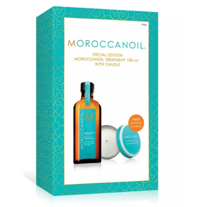 Moroccanoil Treatment 100ml & Candle Gift Set