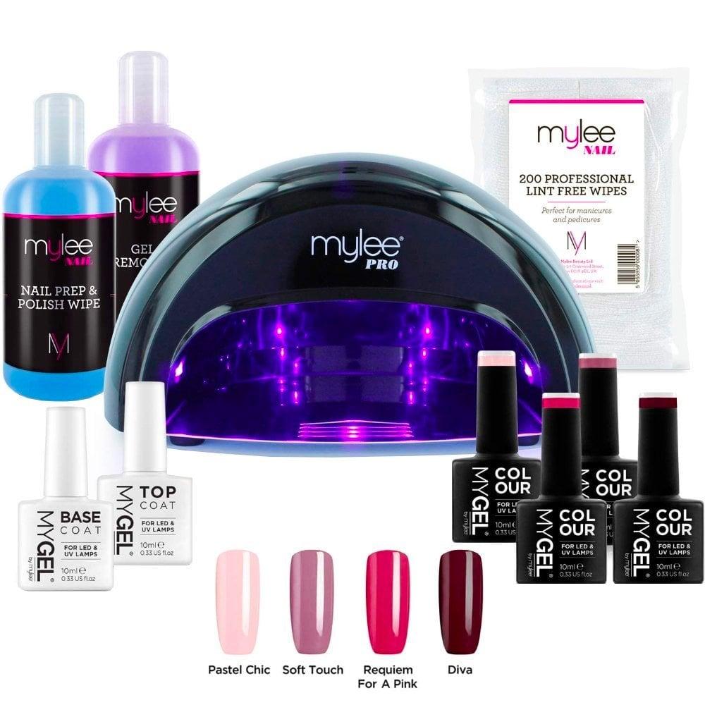 Mylee Mylee Complete Professional Gel Polish Kit Black Lamp Nails Free Delivery Justmylook