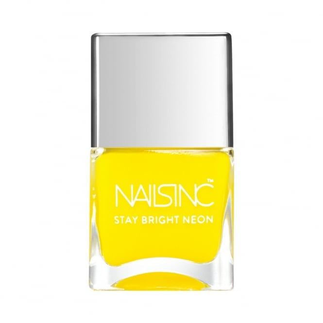 Nails Inc Golden Lane Stay Bright Neon Yellow Nail Polish
