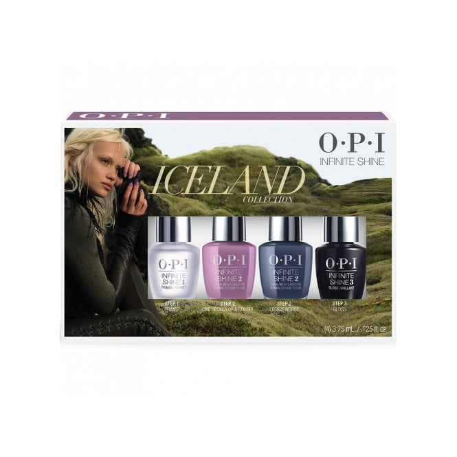 OPI Infinite Shine Iceland Collection 4 x 3.75ml Mini Pack