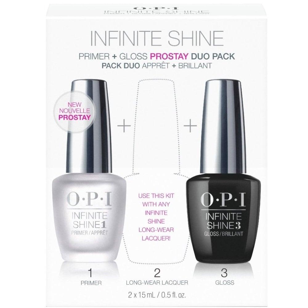 OPI Infinite Shine ProStay Top Coat & Base Coat Duo Pack 2 x 15ml ...