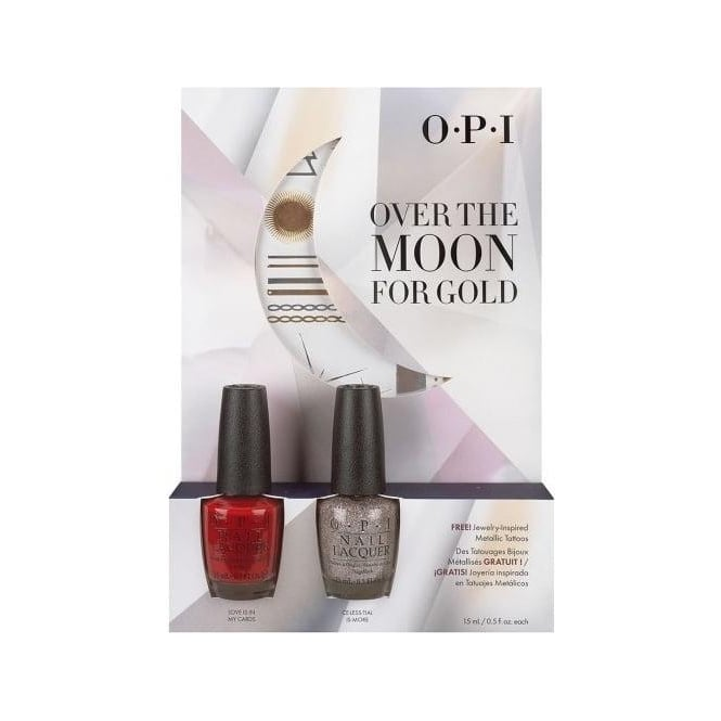 OPI Over The Moon For Gold Duo Pack One 2 x15ml