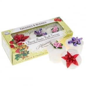 Cherries & Berries Handmade Bath Melts Trio Pack