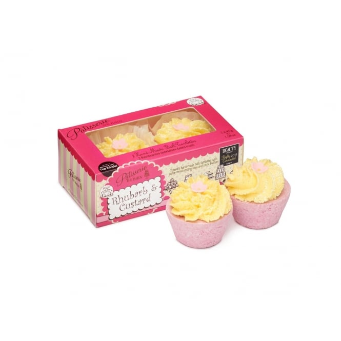 Patisserie de Bain Rhubarb & Custard Bath Tartlettes Duo Pack