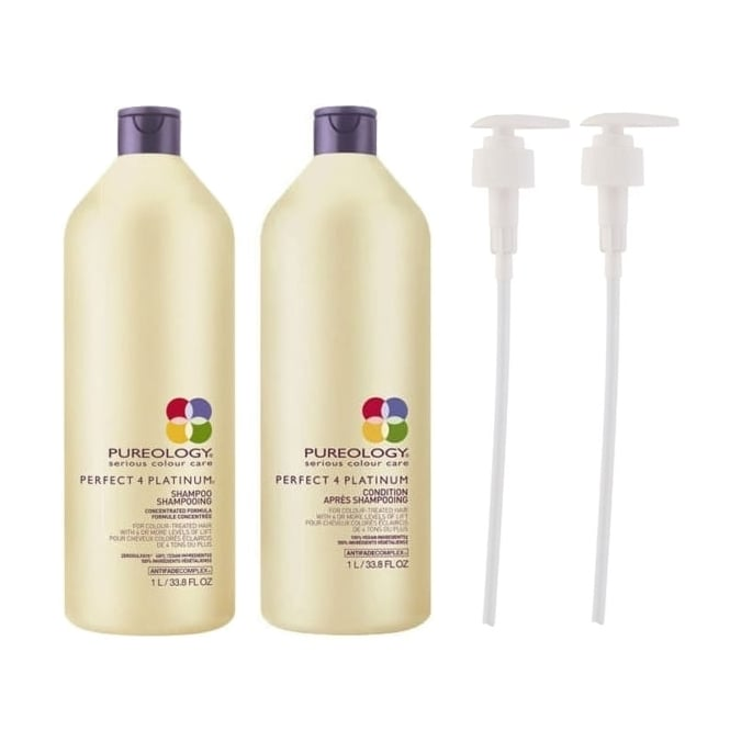 Pureology Perfect 4 Platinum Shampoo & Conditioner Twin 2 x 1000ml