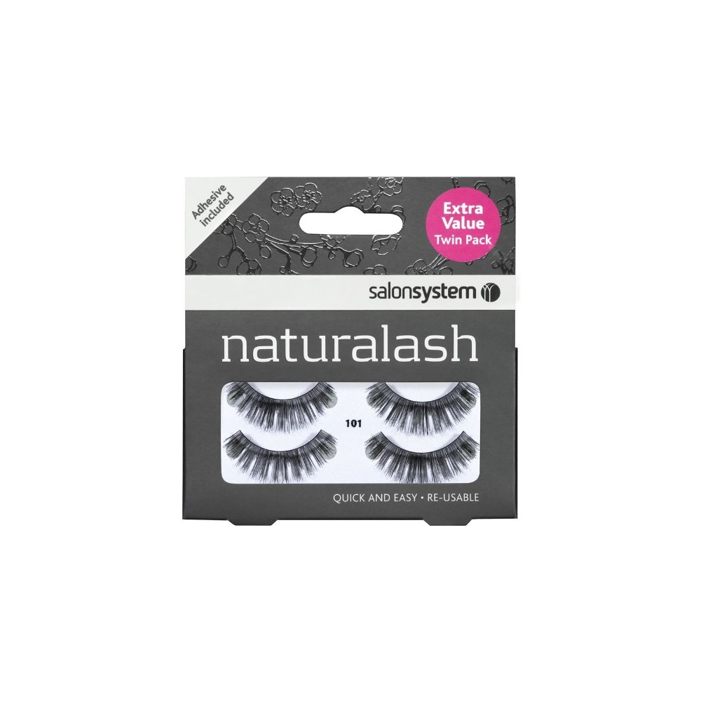 09d451a077c Salon System Natural Strip Lash Black 101 Twin Pack - Free Delivery ...
