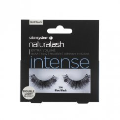 Naturalash Strip Lashes Double Light Blue/Black 206