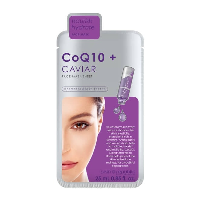 Skin Republic CoQ10 + Caviar Face Mask Sheet 25ml