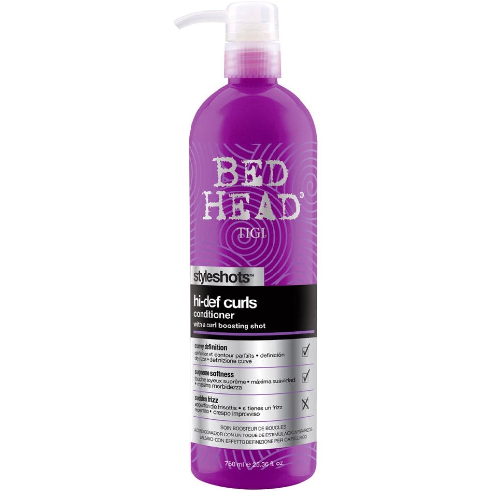 Tigi Bed Head Styleshots Hi Def Curl Shampoo 750ml Hair Free Delivery Justmylook