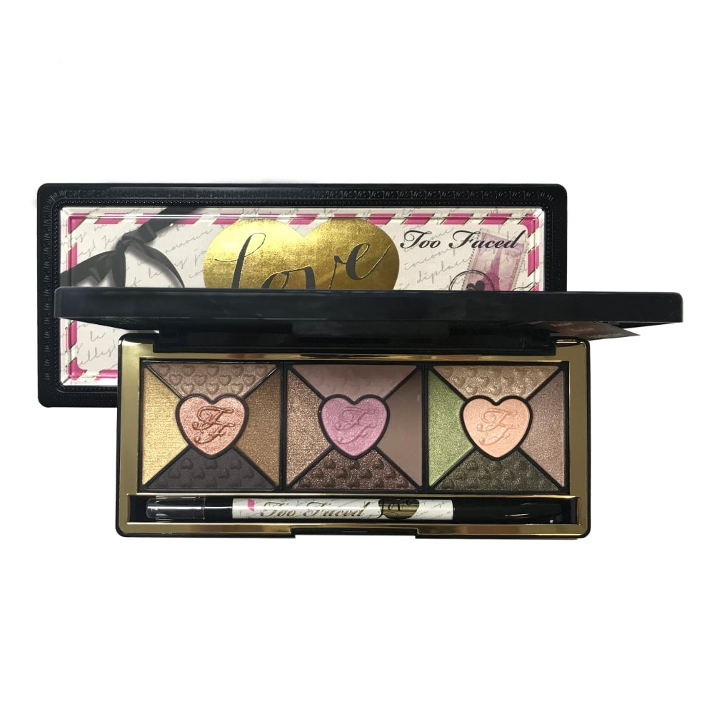 too faced love 15 colour eyeshadow palette free delivery justmylook. Black Bedroom Furniture Sets. Home Design Ideas