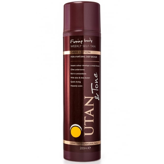 UTan and Tone Weekly Self Tan Lotion Dark 200ml