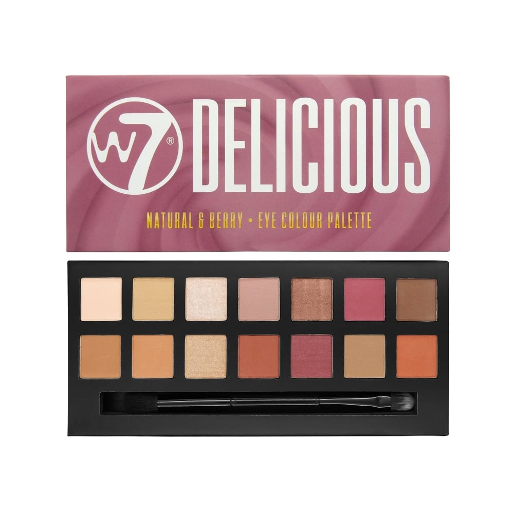 c5011420a37 W7 Cosmetics Delicious Natural & Berry 14 Colour Eyeshadow Palette ...