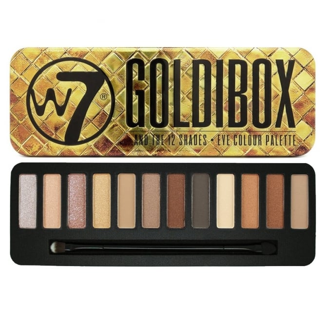 W7 Cosmetics Goldibox 12 Colour Eyeshadow Palette