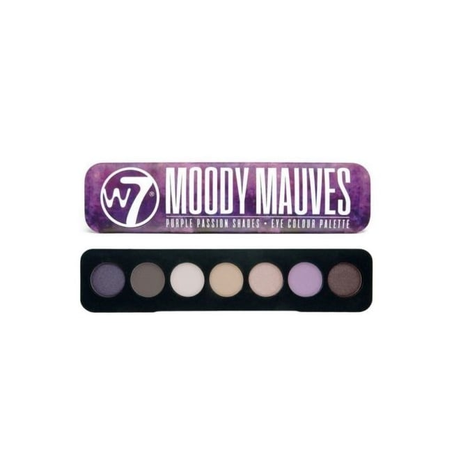 W7 Cosmetics Moody Mauves 7 Colour Eyeshadow Palette