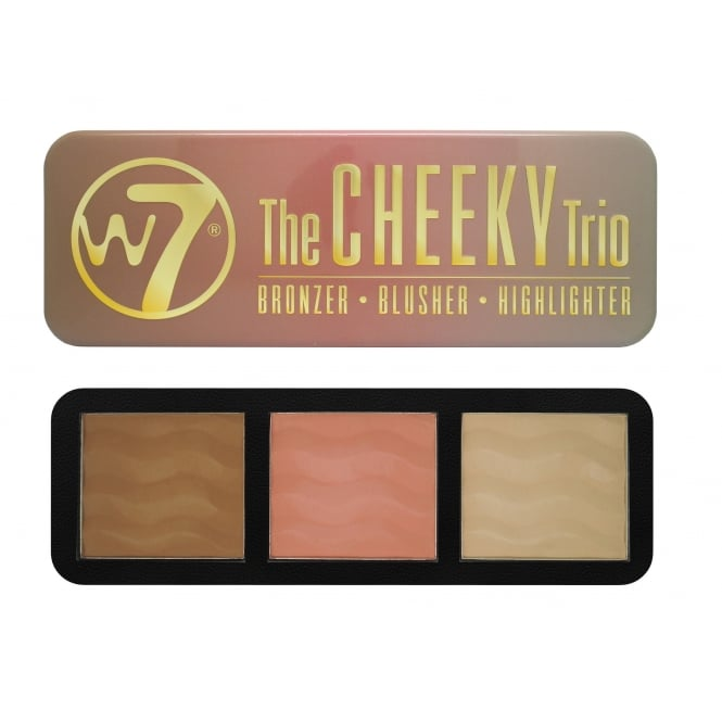 W7 Cosmetics The Cheeky Trio Bronzer, Blusher & Highlighter Kit 21g