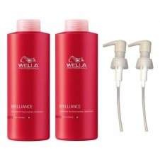 Brilliance For Fine To Normal Coloured Hair Shampoo & Conditioner Twin 2 x 1000ml