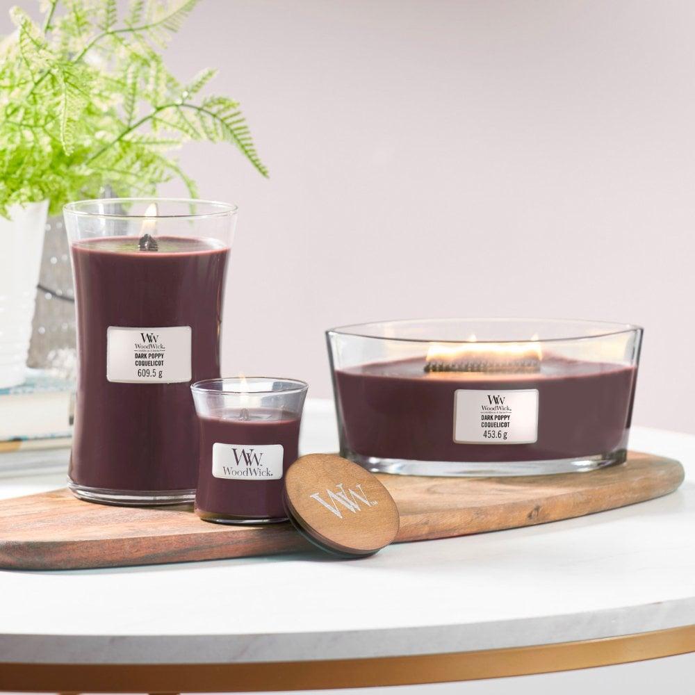 Dark Poppy Ellipse Jar Candle